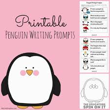 fun essay prompts penguin writing prompts and sewing activity the educators spin the educators spin on it printable penguin