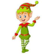 <b>Cartoon cute christmas</b> elf presenting vector image on VectorStock ...