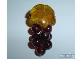 """<b>Брошь</b> из <b>латуни</b> с <b>янтарём</b> """"Виноградная гроздь"""" от ..."""