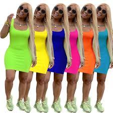 acelyn <b>Women's Sexy</b> Bodycon Tank Dress <b>Sleeveless</b> Casual ...