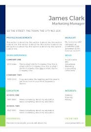 cv templates in microsoft word format   completely      colour blocks cv template