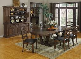 Fabric Chairs For Dining Room Rectangle Brown Wooden Dining Table With White Base Plus White
