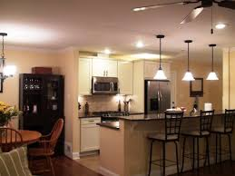 galley kitchen recessed lighting layout with dark countertop images and wooden round dining table pictures also astounding kitchen pendant