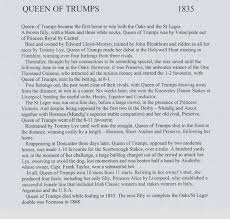 racing blog posts archive michael church racing books page 2 queen of trumps essay