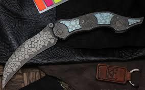 <b>Складной нож CKF Krokar</b> PUZ, сталь M390, рукоять Titanium ...
