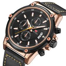 <b>MINI FOCUS</b> Military Style <b>Luminous</b> Date Leather Strap <b>Men</b> Wrist ...