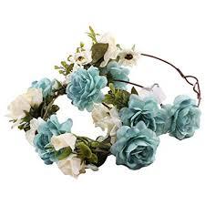 Zoylink 2PCS Hair Wreath Elegant <b>Artificial Flower Headband</b> Floral ...