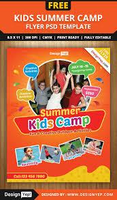 kids summer camp flyer psd template designyep kids summer camp flyer psd template