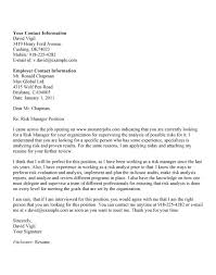 Unsolicited Job Cover Letter Sample