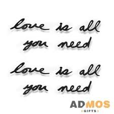 <b>Декоративная надпись Love</b> Is All You Need оптом под нанесение ...