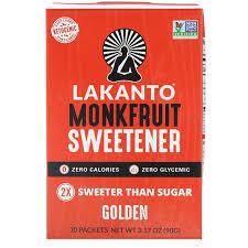 Lakanto <b>Monkfruit Sweetener</b> Classic / <b>Golden 30</b> Packets | Shopee ...