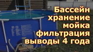 Каркасный <b>бассейн Jilong</b> хранение, мойка, фильтрация воды, 4 ...