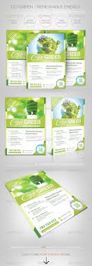 renewable energy go green flyer template logos fonts and solar renewable energy go green flyer template