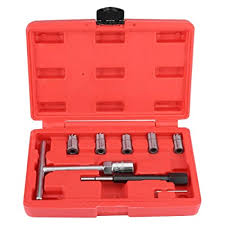 <b>7Pcs Diesel Injector</b> Set Seat Cutter Cleaner Removal Tool Kit Fit for ...