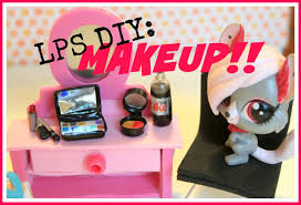 lps diy how to make doll makeup part 1