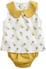 DORIC <b>Newborn Infant Baby Boys Girls</b> Pineapple Tops Shirt+ <b>Pants</b>
