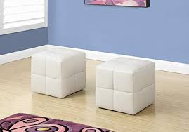 Monarch Specialties I 8161 <b>2 Piece Ottoman</b>, White: Amazon.ca ...