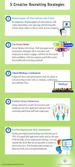5 creative recruiting strategies infographic