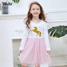 <b>VIKITA New Fille Robe</b> Licorne Girls Unicorn Birthday Party Dress ...