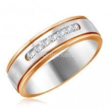 Обручальные <b>кольца</b> из красного золота с бриллиантом в ...