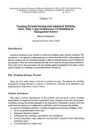 analytical problem solving examples dailynewsreport web fc com analytical problem solving examples
