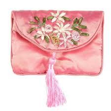 2019 Handmade Ribbon <b>Embroidery</b> Zipper Craft Bag <b>Silk Brocade</b> ...