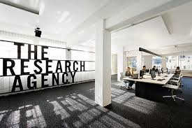 simple and contemporary research agency office in new zealand advertising agency office