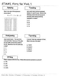 Charts and Activities on PinterestStart preparing your students for the Grade 7 Math STAAR!!! This worksheet focuses on Texas Math STAAR practice. It covers various TEKS in one great ...