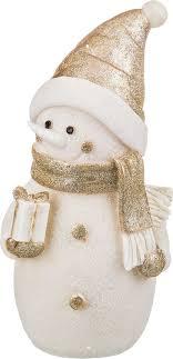 """<b>Фигурка</b> праздничная <b>Lefard</b> """"<b>Снеговик</b>"""", с подсветкой, высота 36 ..."""