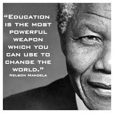 Education is the most powerful weapon which you can use to change ... via Relatably.com
