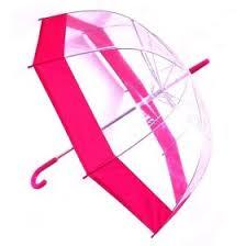 <b>Зонт</b> прозрачный (купол розовый)