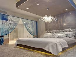 classy and elegant master bedroom design with beautiful white bead chandeliers lighting over king size light bed lighting fabulous