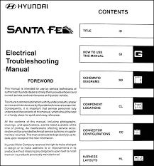 2004 hyundai santa fe electrical troubleshooting manual original 2001 Hyundai Santa Fe Wiring Diagram 2004 hyundai santa fe electrical troubleshooting manual original table of contents 2001 hyundai santa fe wiring diagram