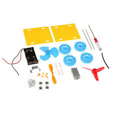 Industrial Robotic Arms DIY Puzzle <b>Mini Wind Car</b> Child Educational ...