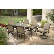 hampton bay posada 7 piece patio dining set with gray cushions 153 120 7d the home depot awesome home depot patio