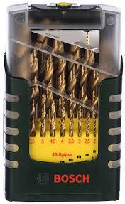 <b>Набор</b> сверл по металлу HSS-TiN (1-13 мм; 25 шт.) <b>Bosch</b> ...