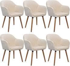 WOLTU <b>Cream</b> White Kitchen Dining <b>Chairs</b> Set of <b>6 PCS</b> ...