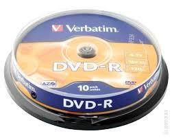 <b>Диск Verbatim DVD</b>-<b>R 4.7Gb</b> 16x 10шт · Каталог товаров ...