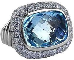 <b>David Yurman</b> Waverly <b>Limited</b>-Edition Ring with Blue Topaz and ...