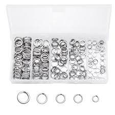 SelfTek <b>200pcs</b> Stainless <b>Steel</b> Split Rings <b>Kit</b> Fishing Lures Ring ...