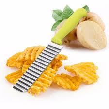<b>1PCS</b> New Stainless Steel <b>Potato Chip</b> Dough Vegetable Crinkle ...