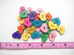 <b>20 pcs</b> of 2 cm rainbow small 2 Hole heart fun colour colourful | Etsy