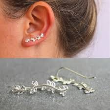 New Leaves Branch Earring Silver Alloy <b>Brincos</b> Women ...