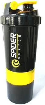 spider Protein <b>shaker</b> bottle, 550 ml,<b>Leak proof</b>, storage container ...