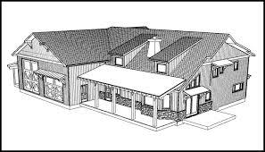 Unique custom home   a large attached shop garage in Bozeman D view design