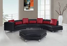 leather sectional 919 redblack black and red furniture