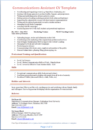 communications assistant cv template   tips and download – cv plazacommunicatons assistant cv template page