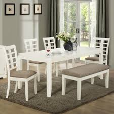 Grey Dining Room Table Sets Dining Room Table With Bench Bewitching Dining Room Decoration