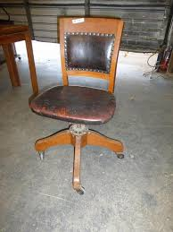 leather antique wood office chair leather antique. lot 33 antique leather u0026 wood swivel office chair t