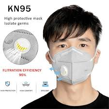 Reusable <b>KN95 N95 FFP2 KF94</b> Mask Breathable Valved Face ...